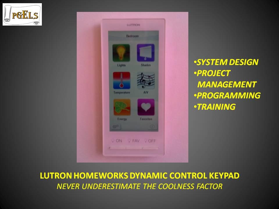 Lutron Homeworks Dynamic Control Keypad