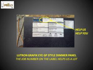 Lutron Grafik Eye GP Style Dimmer Panel