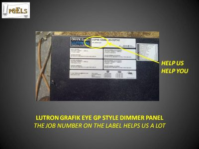 Lutron Grafik Eye GP Style Dimmer Panel